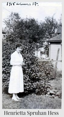 Henrietta Spruhan Hess Adams Street garden