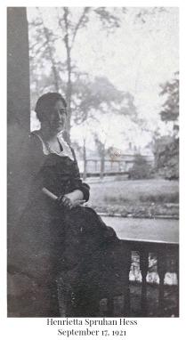 Henrietta Spruhan Hess Sept 17 1921