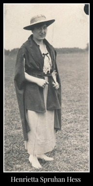 Henrietta Spruhan Hess wearing cape and hat
