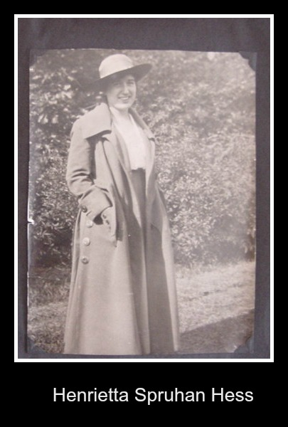 Henrietta Spruhan in coat with hat