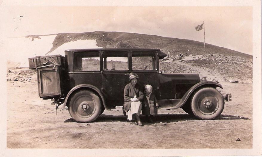 With Henrietta Hess by 1928 Dodge