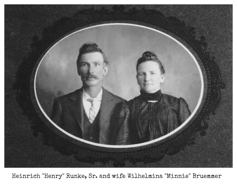 Henry and Wilhelmina Minnie Bruemmer