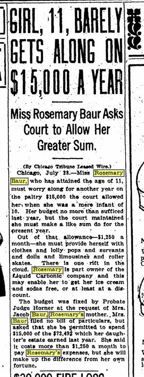 July 28, 1922 The Denver post Rosemary Baur