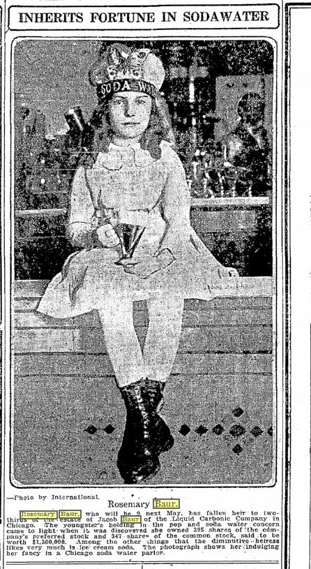 Rosemary Baur March 29, 1920 Seattle Times