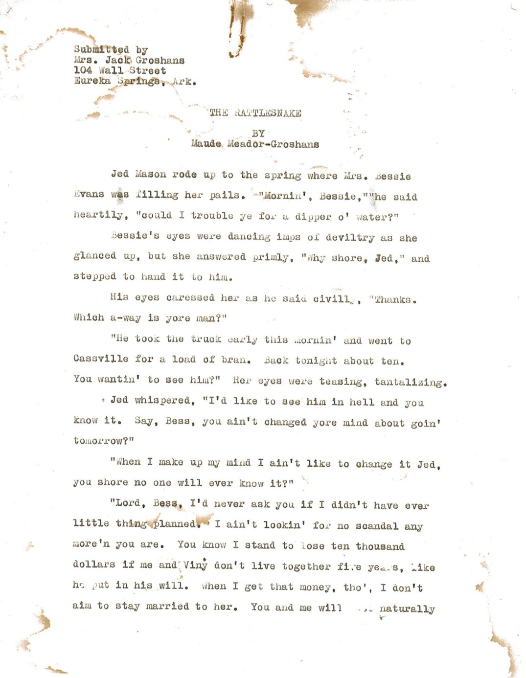 The Rattlesnake page 1