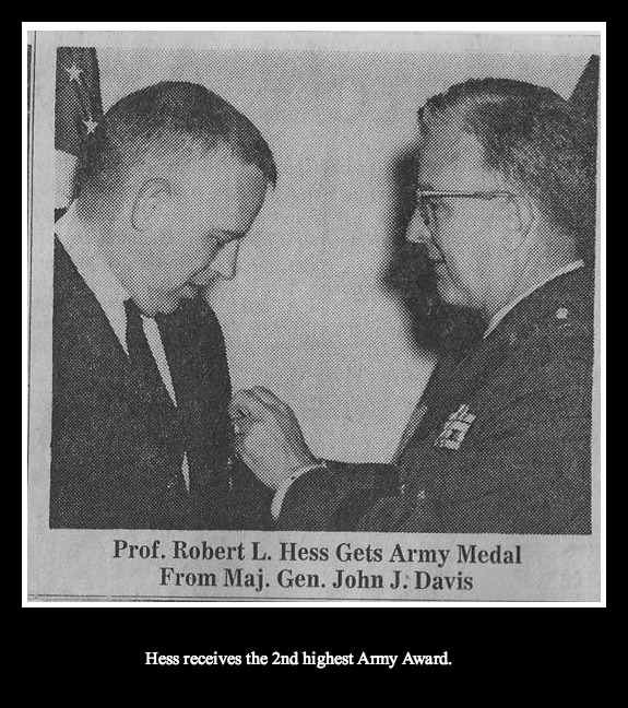wt hess given army award