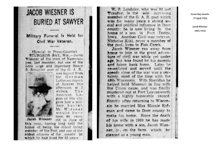 Jacob Wiesner buried 1936