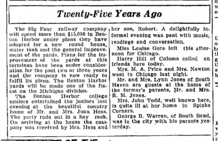 08 May 1929. 25 years ago Mrs. Juan Hess and son Robert