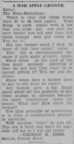 26 July 1939 A Mad Apple Grower