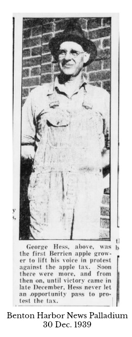George Hess, Sr. from 30 Dec. 1939 News Palladium Benton Harbor