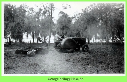 George Kellogg Hess Sr. driving tractor