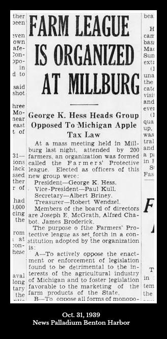News Palladium Benton Harbor 31 Oct. 1939