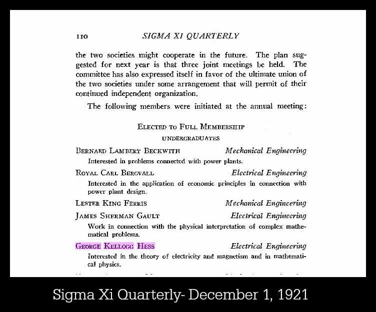 Sigma Xi Quarterly from Dec 1, 1921