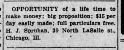 26 Jan 1914 Kansas City , Kansas Gazette Globe H.J. Spruhan