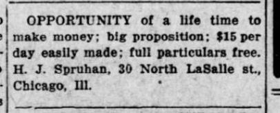 26 Jan 1914 Kansas City , Kansas Gazette Globe H.J. Spruhan