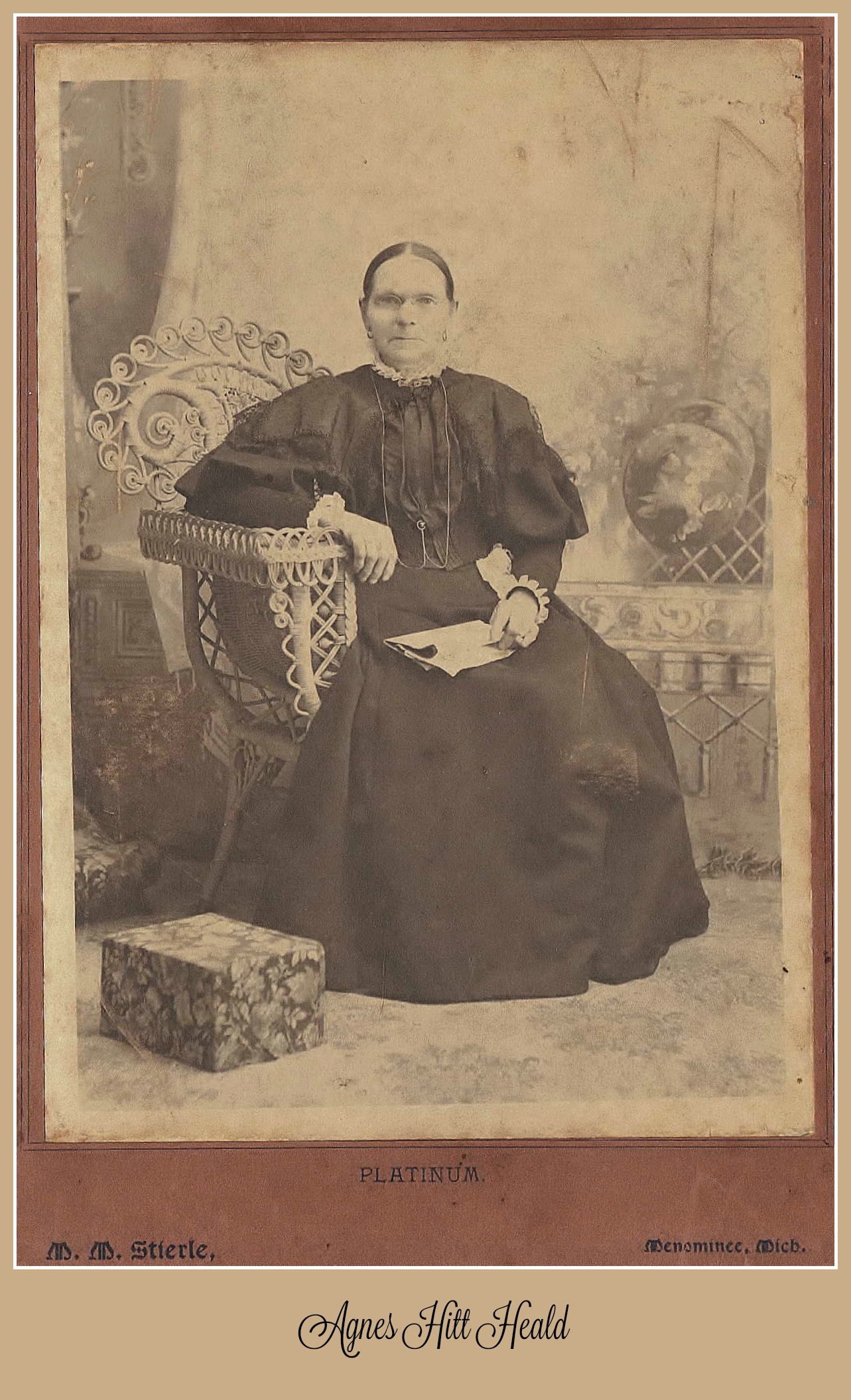 Agnes Hitt Heald seated