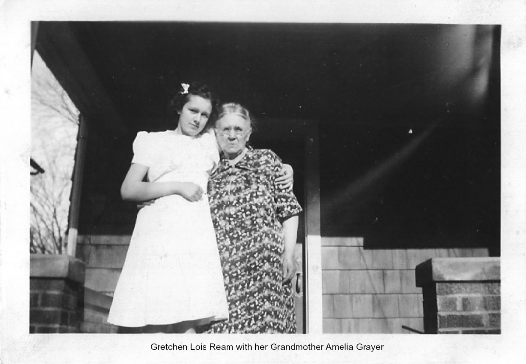 Gretchen Ream Hess with her Grandmother Amelia Grayer