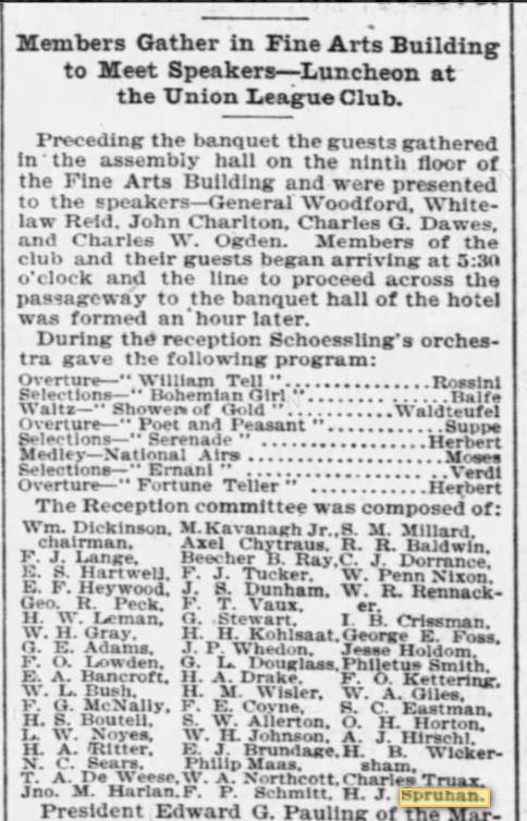 H J Spruhan 14 February 1899 Chicago Tribune