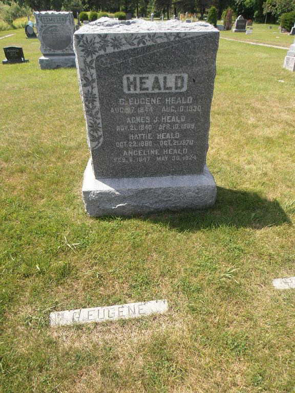 Heald family tombstone