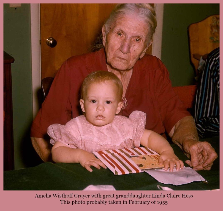 Linda Claire in Grandma Grayer's lap