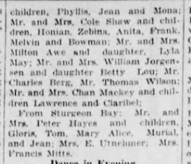 part 3 Eugene Heald reunion 20 August 1928 Green Bay Press