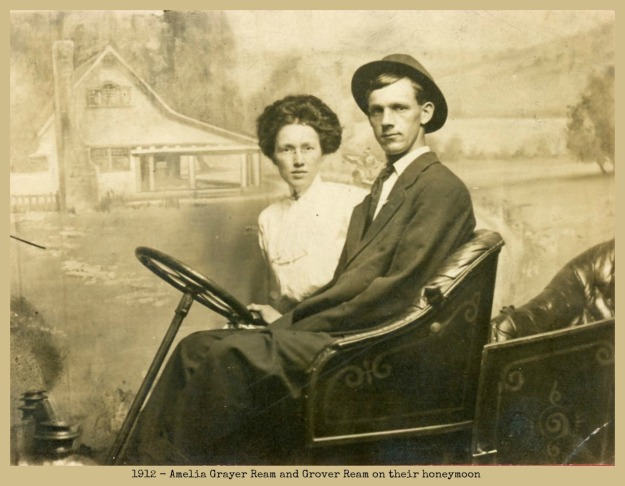 Amelia Grayer Ream and Grover Ream on their 1912 honeymoon