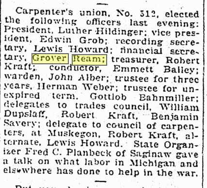 Carpenters Union in AA news June 14, 1918