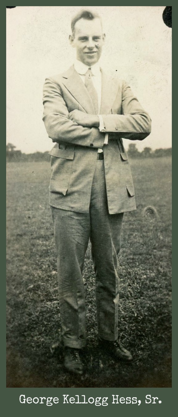 George Kellogg Hess with arms crossed