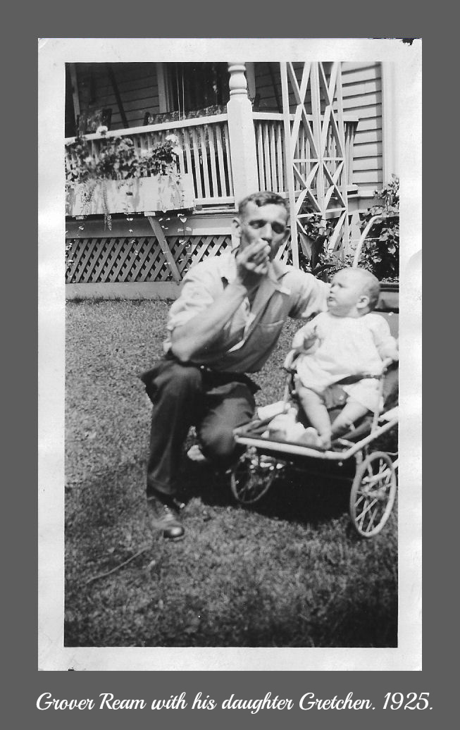 Grover Ream with infant Gretchen Ream