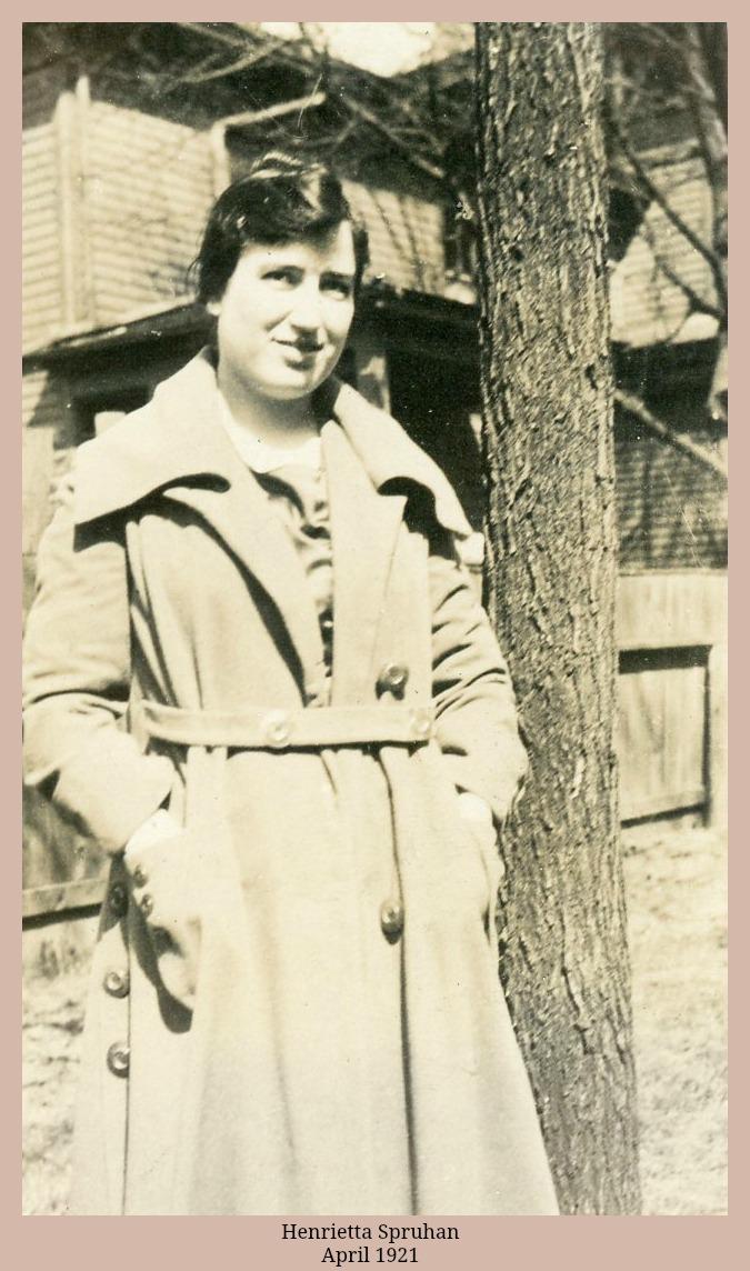 Henrietta Spruhan Hess April 1921 in overcoat