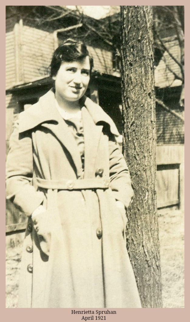 Henrietta Spruhan Hess April 1921 in overcoat