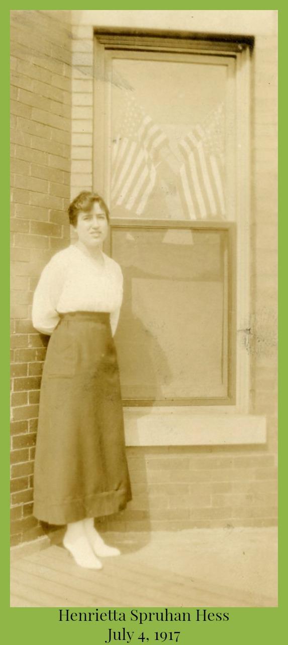Henrietta Spruhan Hess July 4, 1917