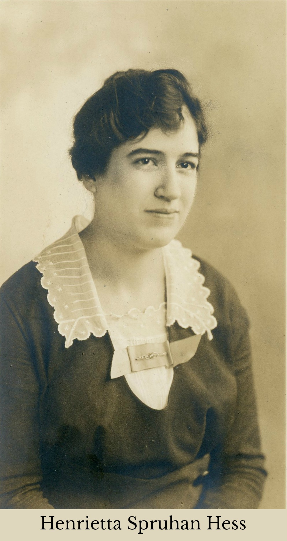 Henrietta Spruhan Hess portrait with lace collar