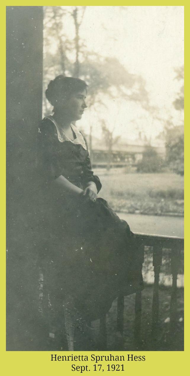 Henrietta Spruhan Hess, September 17, 1921