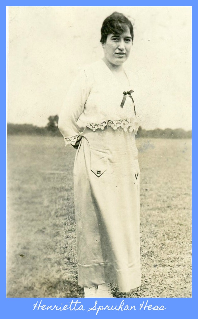Henrietta Spruhan Hess skirt and blouse in yard