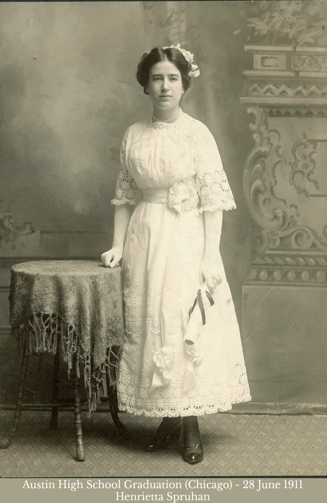 Henrietta Spruhan High School Graduation 1911