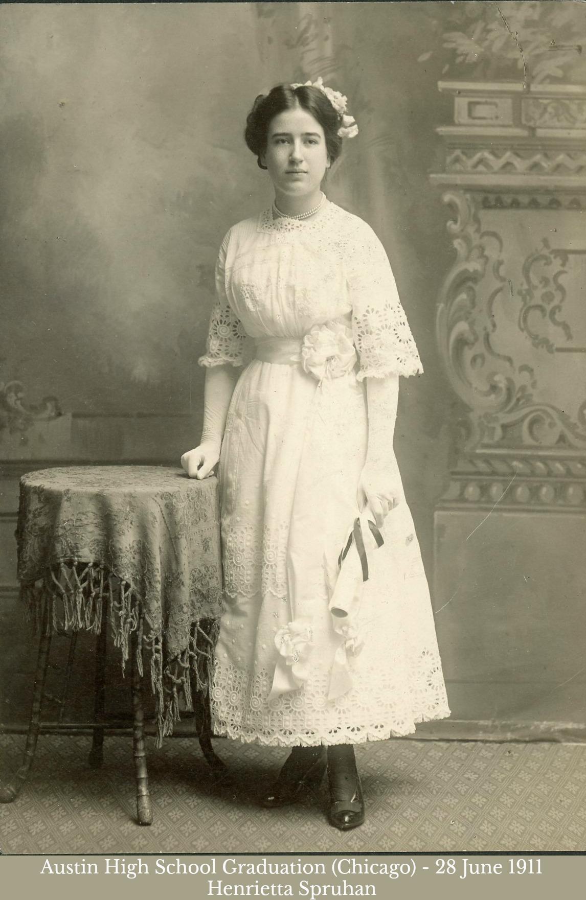 Henrietta Spruhan High School Graduation 1911