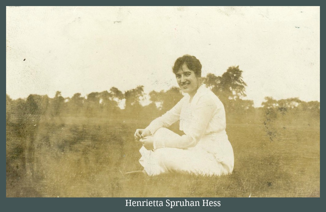 Henrietta Spruhan sitting on grass