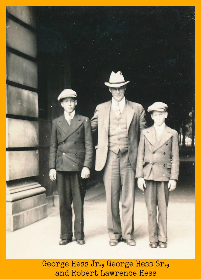Hess boys with their father at the university