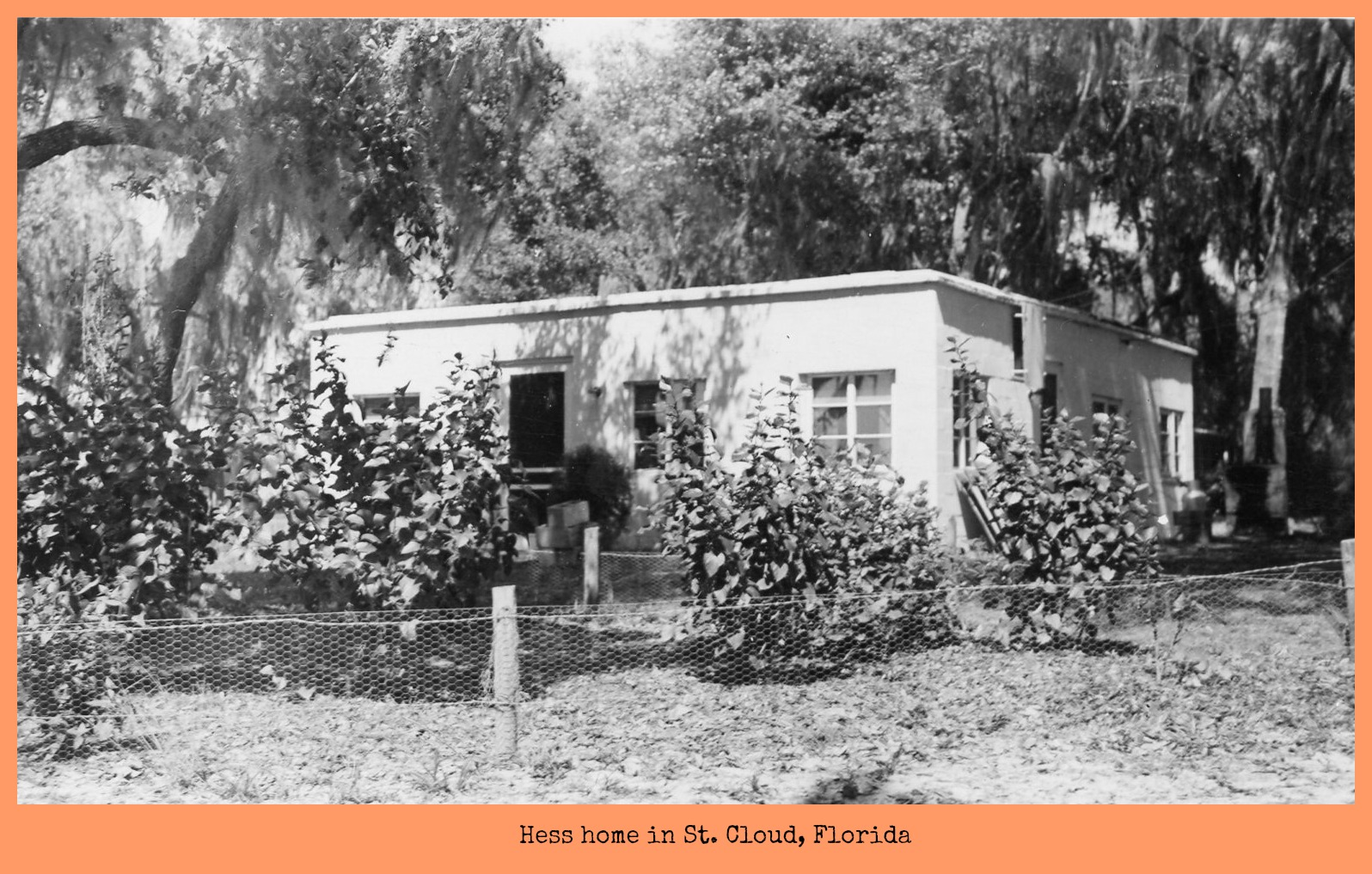 hess home in St. Cloud, Florida
