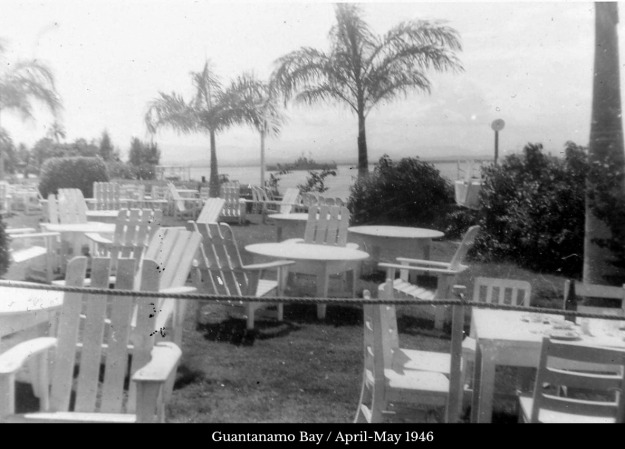 Guantanamo Bay outdoor chairs and tables naval reserve 1946