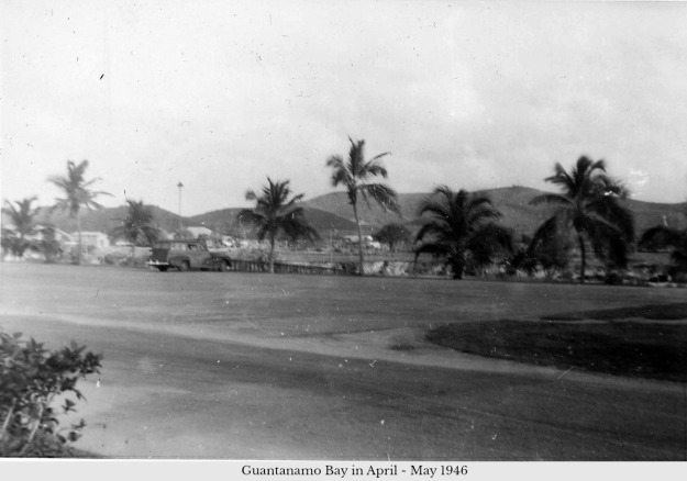 Guantanamo Bay parking area April to May 1946
