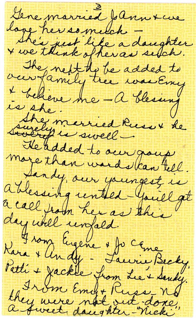 Joyce Shaw Wiesner tribute to Nick Wiesner page 3