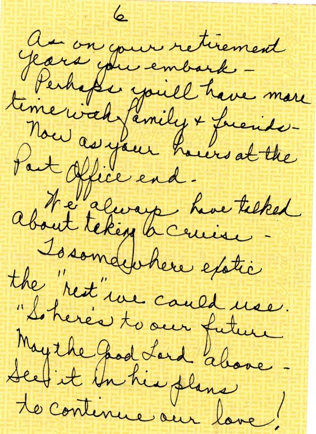 Joyce Shaw Wiesner tribute to Nick Wiesner page 6