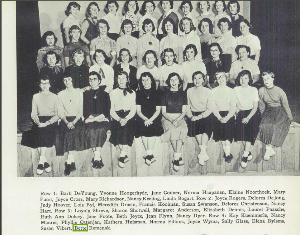 1953 Creston H.S. yearbook