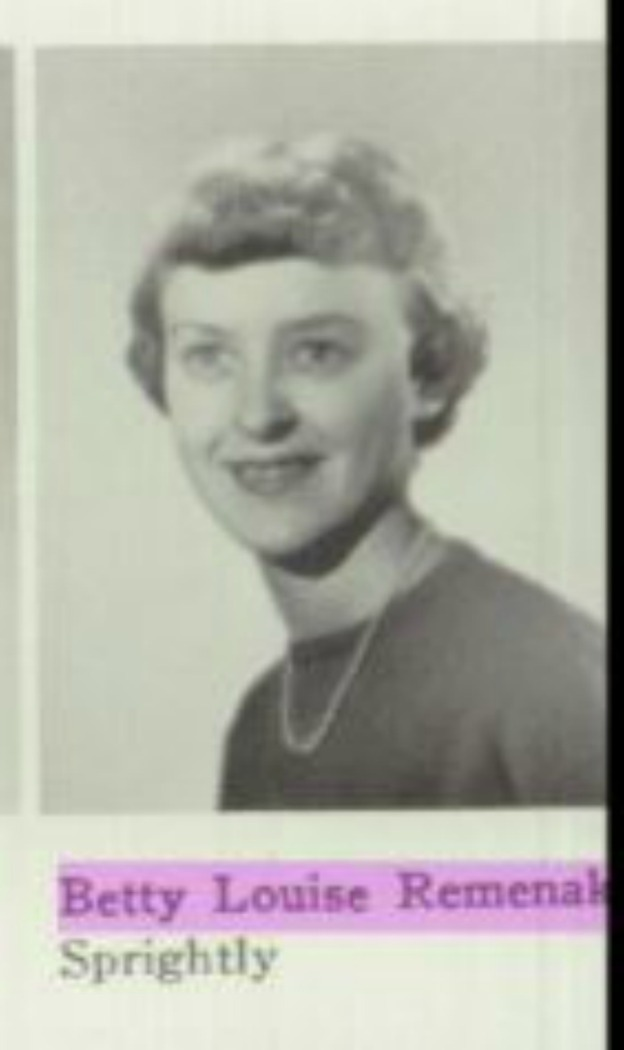 1954 profile pic in Creston H.S. yearbook