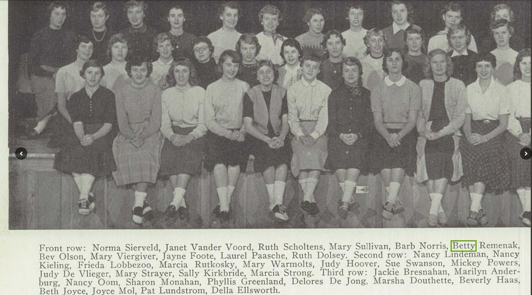 Creston High School 1954 yearbook