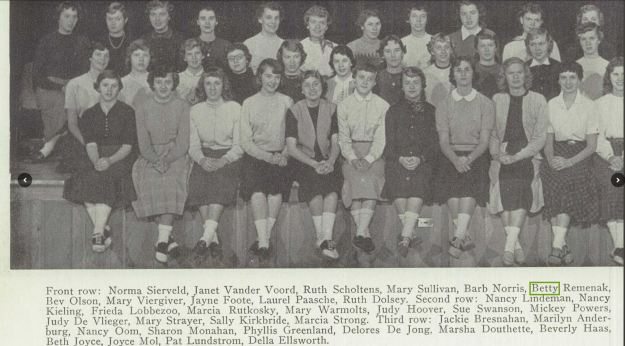 Creston High School 1954 yearbook