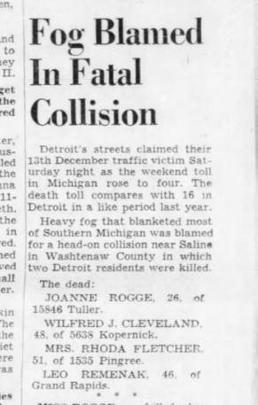 Detroit Free Press 16 Dec 1956 Leo
