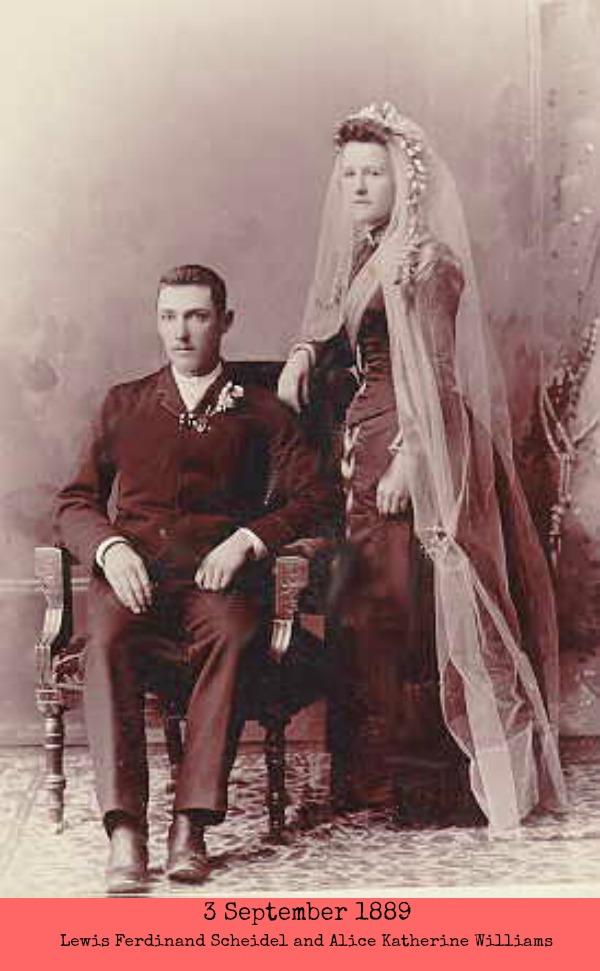 Lewis Ferdinand Scheidel wedding pic